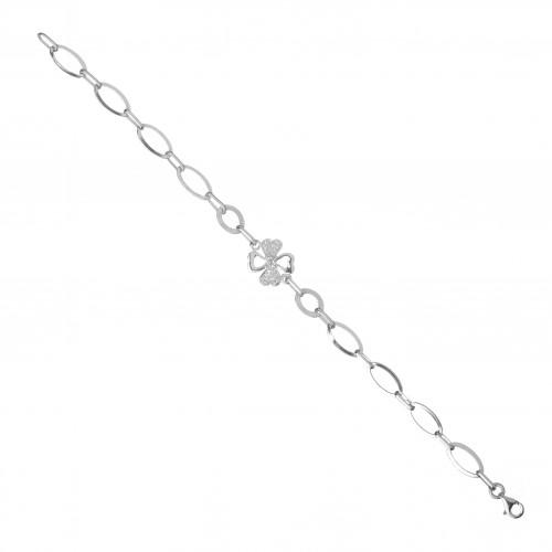 Сребърна гривна с Детелина 3885