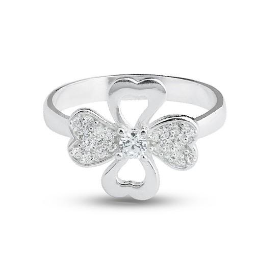 Дамски сребърен пръстен Четирилистна Детелина 105