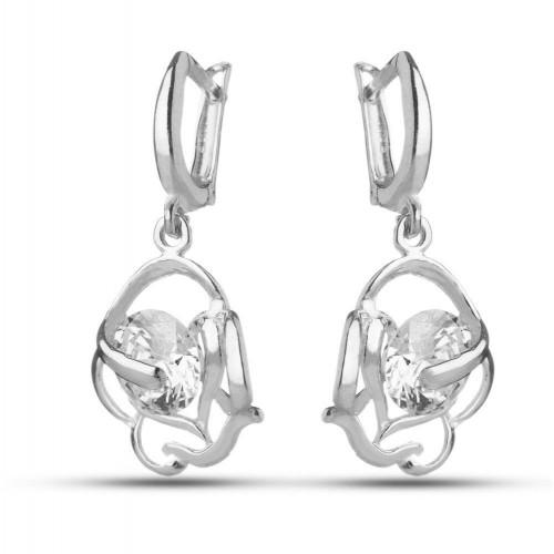 Дамски сребърни обеци Роза Бланка 1786