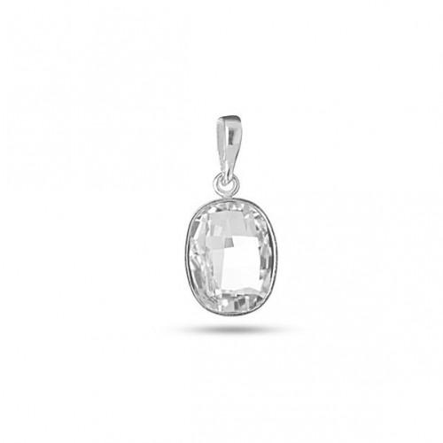 Сребърен дамски медальон с кристали Swarovski Elements 1140