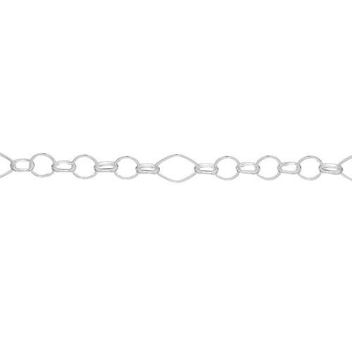 Дамска сребърна гривна Милена Ромб 3744