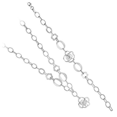 Дамски сребърен комплект Роза Бланка 2160