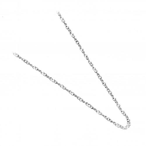 Сребърна дамска верижка класическа плетка 2835