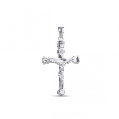 Дамски сребърен медальон кръст с разпятие 2916