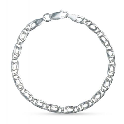 Дамска сребърна класическа гривна 3929