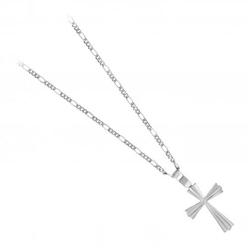Дамско сребърно колие със сребърен кръст 4049