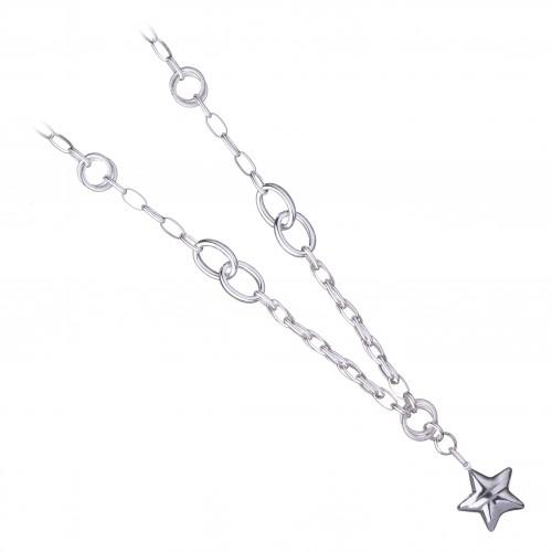 Дамско сребърно колие Милена Звезда 4053