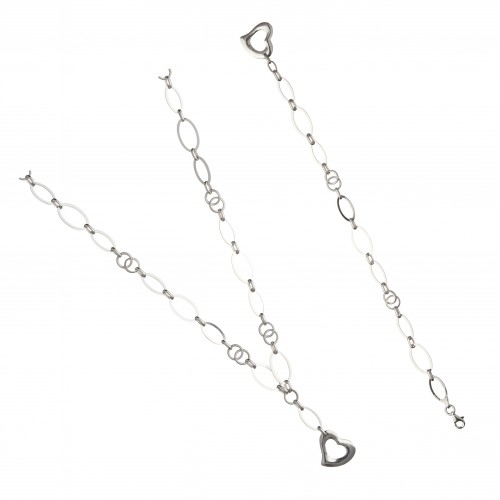 Дамски сребърен комплект Милена Нео колие и гривна 4256