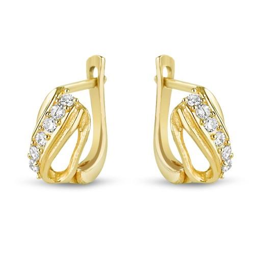 Дамски златни обеци Бонбон Мин...