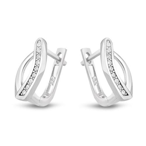 Дамски сребърни обеци Испанка 4427