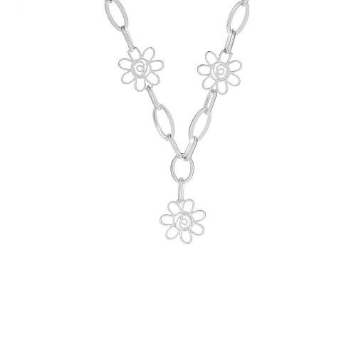 Дамско сребърно колие Пролет 4549