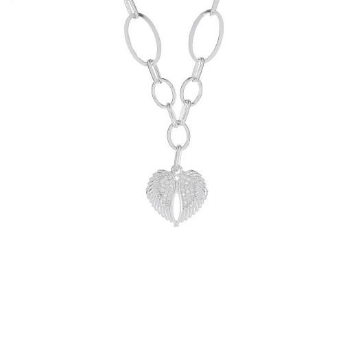 Дамско сребърно колие Ангелско Сърце 4556