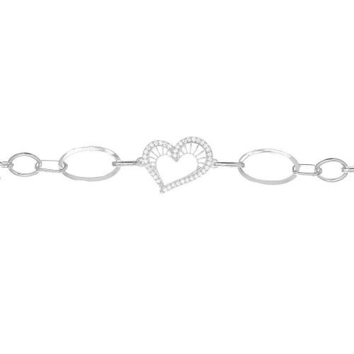 Дамска сребърна гривна Сърцето на Афродита 4593
