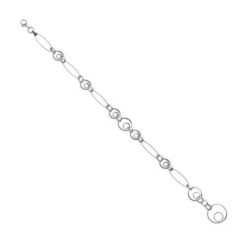 Дамска сребърна гривна 4729
