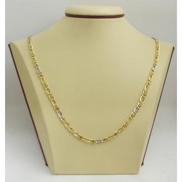 Златна верижка жълто и бяло злато 2685