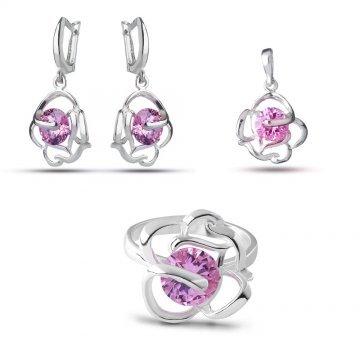 Дамски сребърен комплект Роза Розе 1013