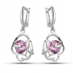 Дамски сребърни обеци Роза Розе 2760