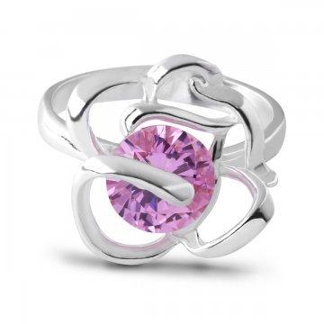 Дамски сребърен пръстен Роза Розе 3924