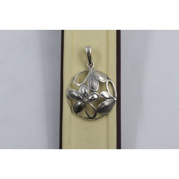 Дамски сребърен медальон Букет тъмно сребро 1115