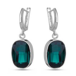 Сребърни дамски обици с кристали Swarovski Elements 1139
