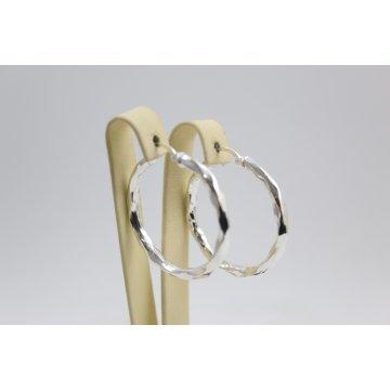 Дамски сребърни обеци халки 1159
