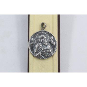 Дамски сребърен медальон Богородица 1283