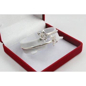 Дамска сребърна гривна Кристална Прелест 1429