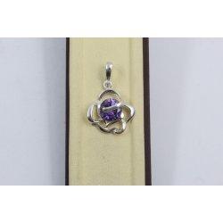 Дамски сребърен медальон Роза Лила 1470