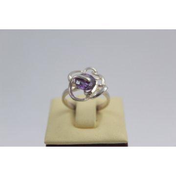 Дамски сребърен пръстен Роза Лила 1472