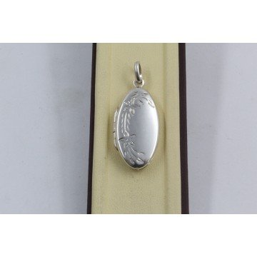 Дамски сребърен отварящ се медальон 1532