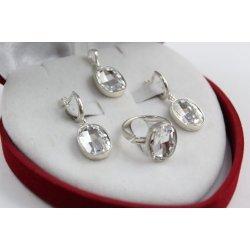Дамски сребърен комплект Кристалит Swarovski 1557