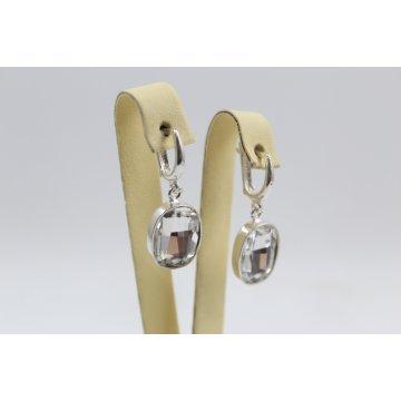 Дамски сребърни обеци с кристали Swarovski 1991