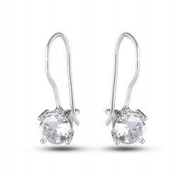 Дамски сребърни обеци Снежанка 2436