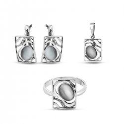 Дамски сребърен комплект Лунна Нощ 1630