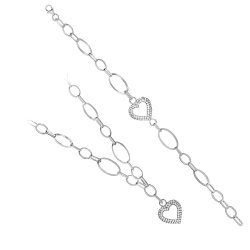 Дамски сребърен комплект Амор 1644