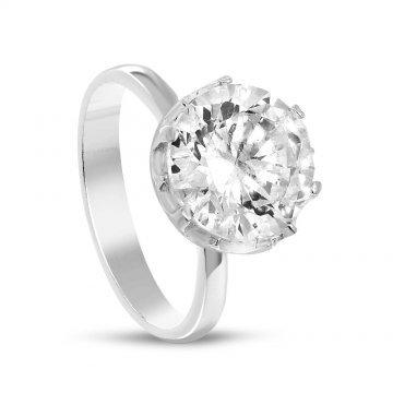 Дамски сребърен годежен пръстен 1655