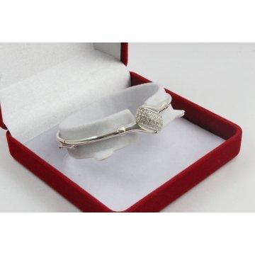 Дамска твърда сребърна гривна - Бонбон 1664