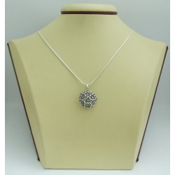 Дамски сребърен медальон Трендафил