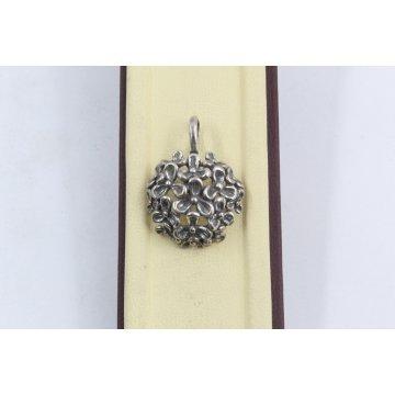 Дамски сребърен медальон Трендафил тъмно сребро 1723