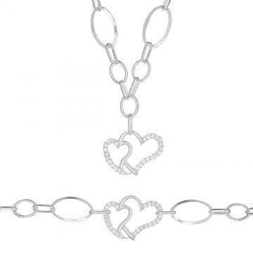 Дамски сребърен комплект Свети Валентин 1745