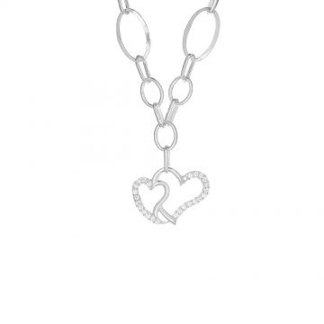 Сребърно дамско колие Свети Валентин 4532