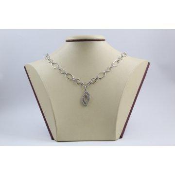 Дамско сребърно колие Елеганс 1746