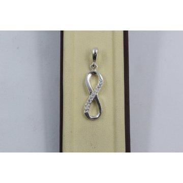 Дамски сребърен медальон Безкрайност 1750