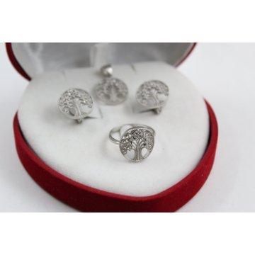 Дамски сребърен комплект Дървото на Живота 1753