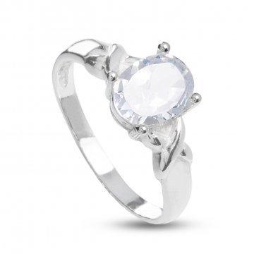 Дамски сребърен годежен пръстен 1757