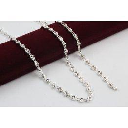 Дамски сребърен комплект Бобчета колие гривна 1765