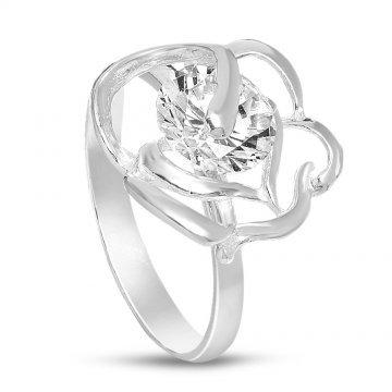 Дамски сребърен годежен пръстен Роза Бланка 1787