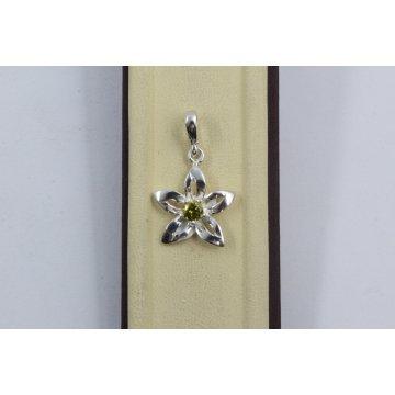 Дамски сребърен медальон Кристална Прелест Оливин 1798
