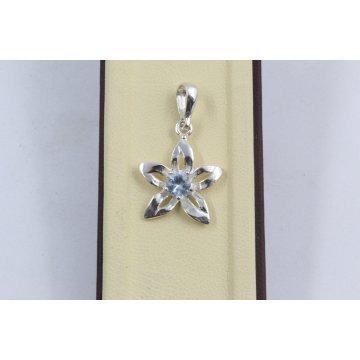 Дамски сребърен медальон Цвете Аква 1802