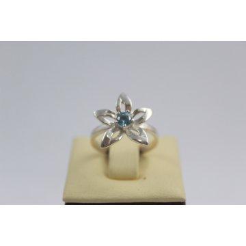 Дамски сребърен пръстен Кристална Прелест Аква 1803